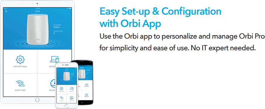 Easy Set-up & Configuration with Orbi App