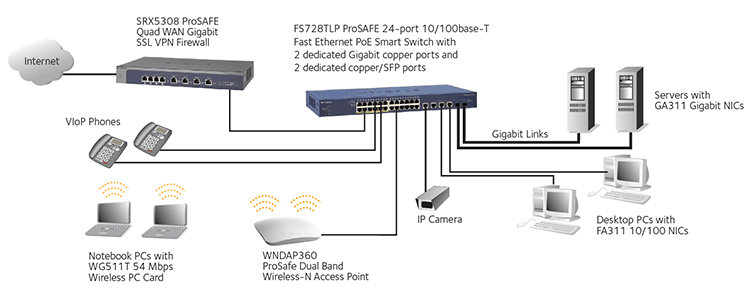 ProSAFE Fast Ethernet Smart Switch Diagram